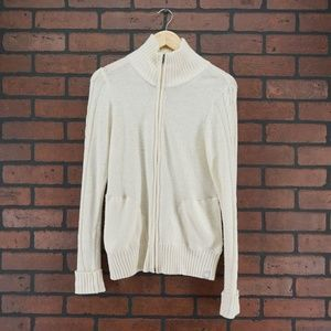 MARMOT Full Zip Cable Knit Sweater Size M